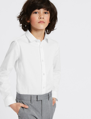 Marks and Spencer Pure Cotton Textured Shirt (3-16 Years)