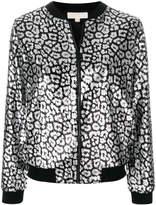 MICHAEL Michael Kors leopard bomber jacket