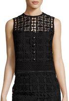 Nanette Lepore Bellini Embellished Lace Top