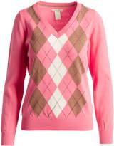 Caribbean Joe Rosy Cheeks Argyle Sweater