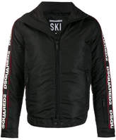 Dsquared2 Padded Jacket With Writing On Sleeves