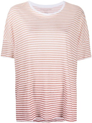 Majestic Filatures striped round neck T-shirt