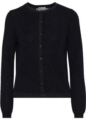 RED Valentino Point D'esprit-trimmed Cashmere And Silk-blend Cardigan
