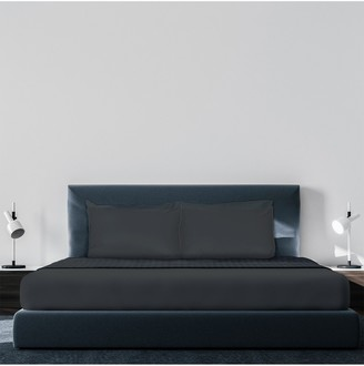 Pillow Guy Luxe Soft & Smooth Tencel 6-Piece Sheet Set - Charcoal - Full Size