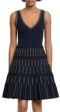 Sandro Jasm Fit-and-Flare Knit Dress