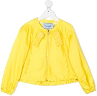 Mi Mi Sol Strap Detail Zip-Up Jacket