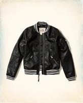 Hollister Vegan Leather Bomber Jacket