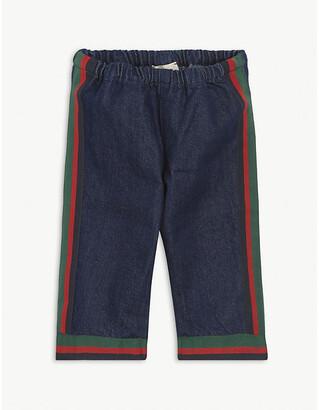 Gucci Web stripe cotton jeans 12-24 months