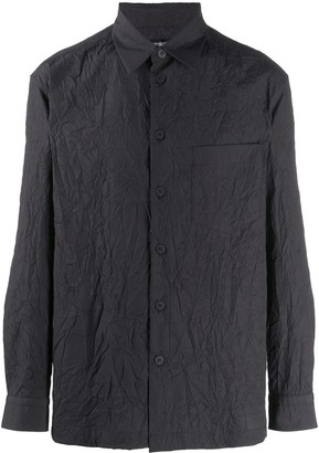 Issey Miyake Wrinkle-Effect Buttoned Shirt