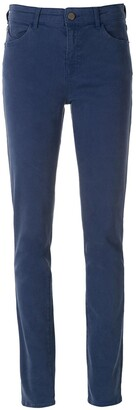 Emporio Armani Straight-Leg Blue-Wash Trousers