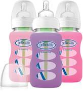Dr Browns Dr. Brown's Dr Brown's Options Wide Neck Glass Bottle in Silicone Sleeve, 9 Ounce, 3 Count