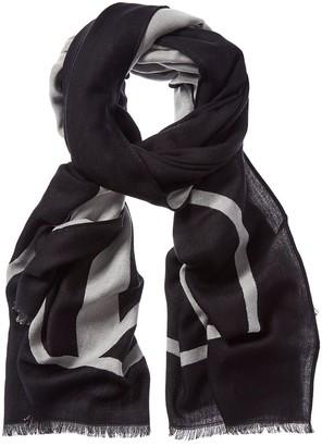 Valentino Vlogo Wool, Cashmere, & Silk-Blend Scarf