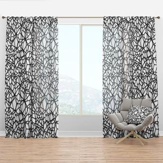 Design Art Designart 'Abstract Mosaic Pattern' Modern & Contemporary Curtain Panel