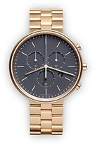 Uniform Wares M40 Quartz Watch with Grey Chronograph Dial with Gold Stainless Steel Strap