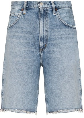 AGOLDE Frayed Denim Shorts
