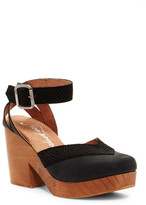 Free People Walk This Way Ankle Strap Clog Sandal