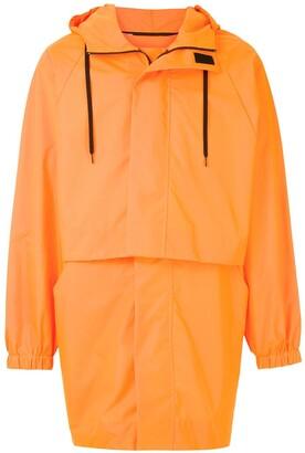 OSKLEN Drawstring Long-Sleeve Raincoat
