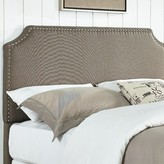 Three Posts Hillary Upholstered Panel Headboard Size: King / California King, Upholstery: Pebble Stone