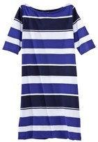 Petit Bateau Women's boat-neck dress with bayadere stripes