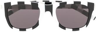 Saint Laurent Eyewear bars pattern sunglasses