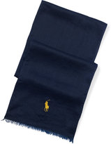 Ralph Lauren Big Pony Cotton–linen Scarf