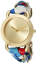 RumbaTime Women's 11460 Nolita Blue Crystal Stainless Steel Multi-Color Watch
