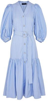 Eudon Choi Margherita Striped Cotton Dress