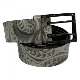 Fendi Grey Leather Belts