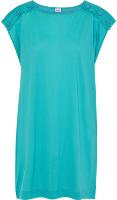 Eres Pop Anyway Button-detailed Cotton-jersey Mini Dress