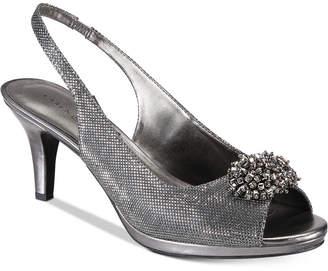 Karen Scott Breena Slingback Peep-Toe Pumps, Women Shoes