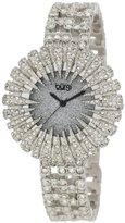 Burgi Women's BU54SS 15.5mm Dazzling Crystal Analog Quartz Stainless Steel-Plated Silver Watch
