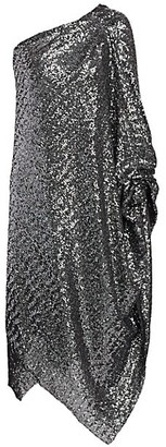 Roland Mouret Worthing One-Shoulder Sequin Cocktail Dress