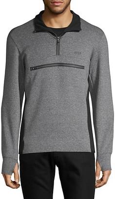 HUGO BOSS Colorblock Cotton-Blend Sweater