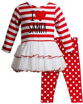 Sweet Heart Rose Sweetheart Rose Baby Girls Two Piece Mini Dress and Leggings