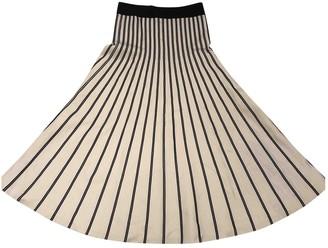 Sandro White Cotton - elasthane Skirt for Women
