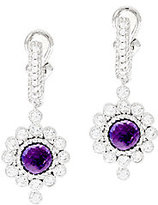 Judith Ripka As Is Sterling 2.50ct Amethyst Drop Earrings