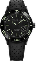 Raymond Weil Freelancer PVD Coated Stainless Steel and Rubber Strap Watch