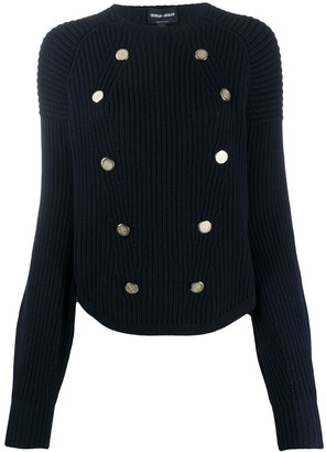 Giorgio Armani Chunky Knit Button-Detail Jumper