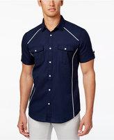 INC International Concepts Men's Contrast Trim Cotton Shirt, Only at Macy's