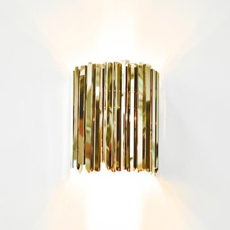 Innermost Facet 1 - Light Flush Mount Finish: Polished Brass