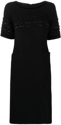 Alberta Ferretti Bead Detail Short-Sleeved Midi Dress