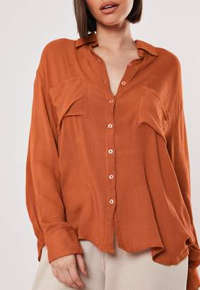 Missguided Rust Safari Pocket Shirt