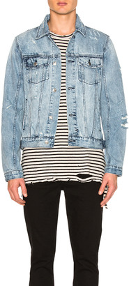 Ksubi Classic Super Smashed Jacket in Denim | FWRD