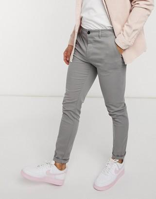 ASOS DESIGN skinny chinos in light grey