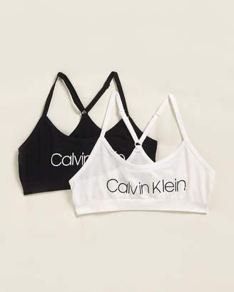 Calvin Klein Girls 7-16) Two-Pack Seamless Racerback Bra