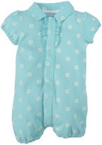 Magnificent Baby Daises Pique Polo Romper (Baby) - Green-24 Months