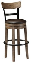 Signature Design by Ashley Pinnadel Swivel Barstool, Light Brown, Pub Height