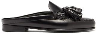 Hereu Borlada Tasselled Backless Leather Loafers - Womens - Black