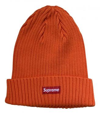 Supreme Orange Cotton Hats