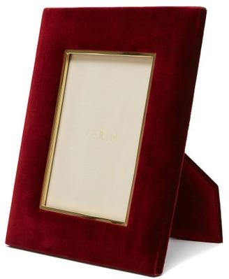 AERIN Valentina Large Velvet Photo Frame - Burgundy
